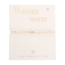 Armband - Wonderful moments - Perlenarmband mit Stern - rosévergoldet