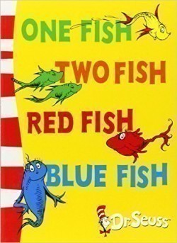 One Fish, Two Fish, Red Fish, Blue Fish Blue Back Book