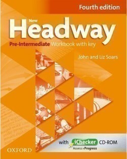 New Headway Pre-Intermediate 4th Edition Workbook with Key + iChecker CD