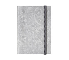 B5 Paseo Embossed Notebook Silver