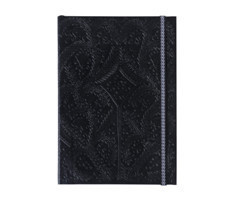 B5 Paseo Embossed Notebook Black