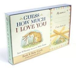 Guess How Much I Love You Book & Baby Cards Milestone Moments Gift Set