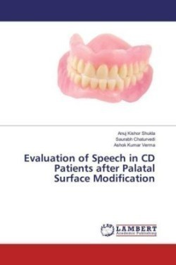 Evaluation of Speech in CD Patients after Palatal Surface Modification