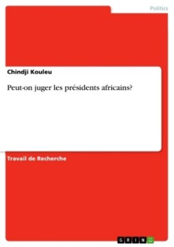 Peut-on juger les presidents africains?
