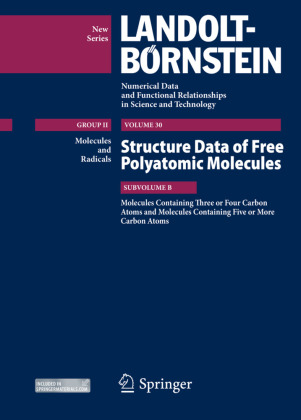 Molecules Containing Three or Four Carbon Atoms and Molecules Containing Five or More Carbon Atoms Structure Data of Free Polyatomic Molecules