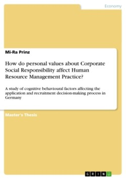 How do personal values about Corporate Social Responsibility affect Human Resource Management Practice?