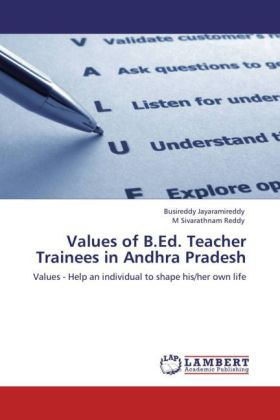 Values of B.Ed. Teacher Trainees in Andhra Pradesh