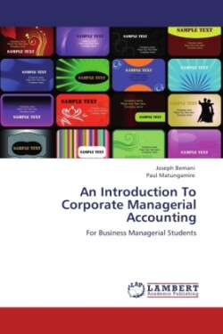 An An Introduction To Corporate Managerial Accounting